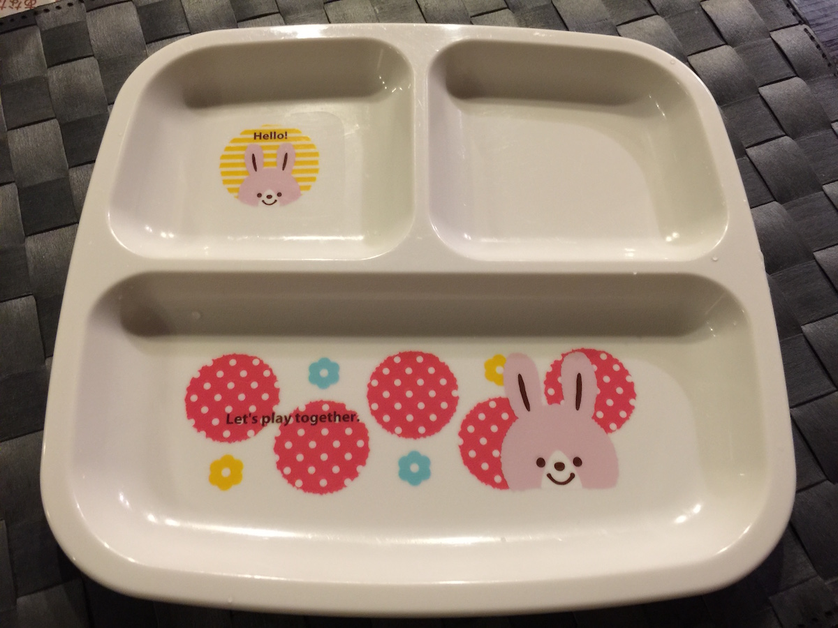 "Kawaii children's tableware in 100 yen Shop ""Seria"" in Japan"